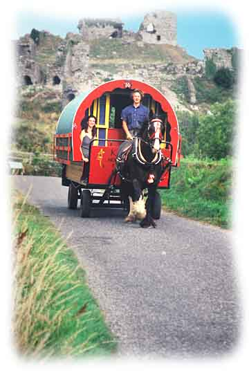 Arrival and depature information for your Irish Horse Drawn caravan holiday.